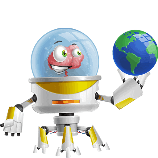 Os, the captain of HE Group, while holding the planet Earth on its hand and starring at it. This is its 2nd Pose for HE Group Website, and you can find more info for Os itself in the team section.